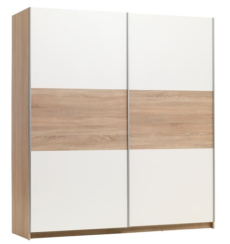 Wardrobe SATTRUP 201x219 white/oak