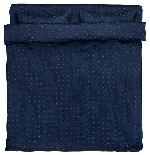 Lenjerie pat+cearsaf STELLA dublă albast