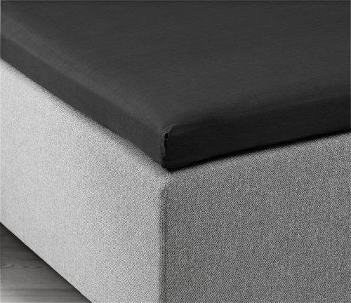 Kuvertlakan 160x200x6-10cm svart