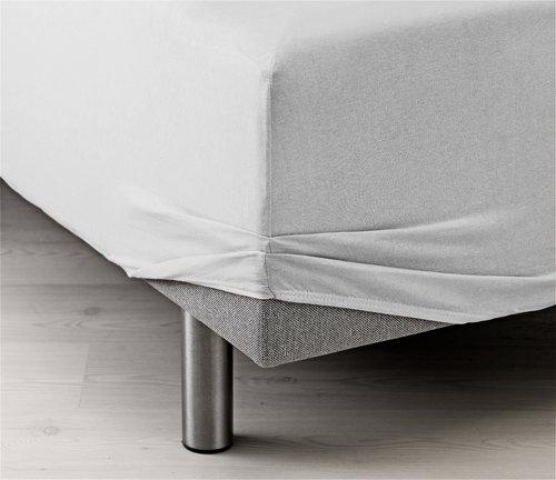 Ζέρσεϊ σεντόνι 180x200x40cm λευκό
