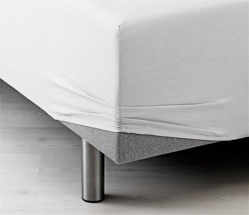 Чаршаф с ластик 90x200x35 бял KRONBORG