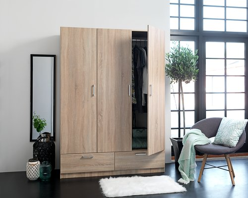 Wardrobe EJERSTED 144x200 cm oak