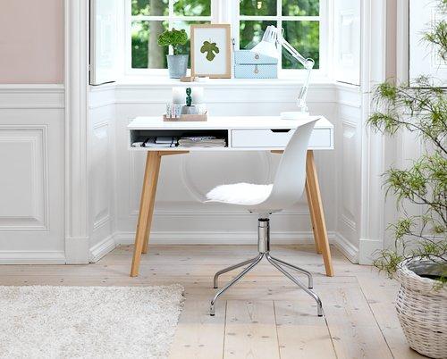 Íróasztal TAMHOLT 1 fiókos fehér/tölgy