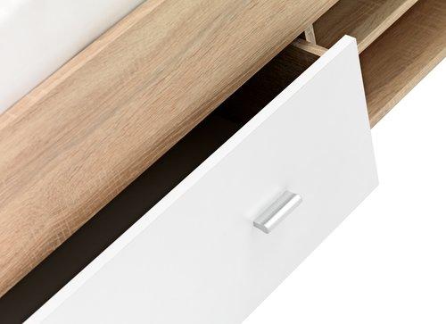 Rama łóżka FAVRBO 140x200 dąb/biały