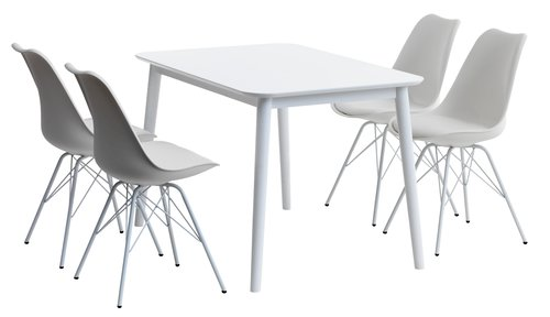 Miza LANGDAL D118 + 4 stoli KLARUP