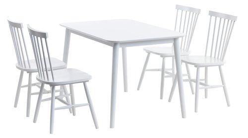 Trpez. stol LANGDAL 77x118 cm bijela