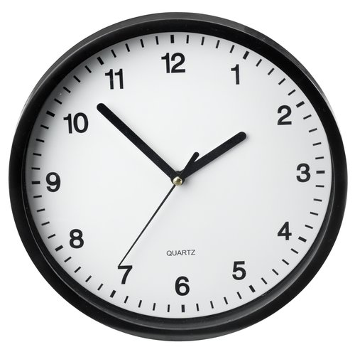Orologio parete ELVART Ø23cm nero/bianco