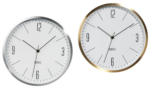 Wall clock HALVOR D30x4cm ass.