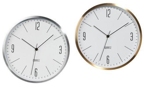 Wall clock HALVOR D30cm assorted