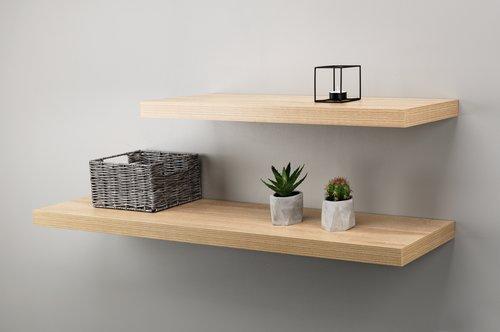 Floating shelf ABILD 80x24 oak