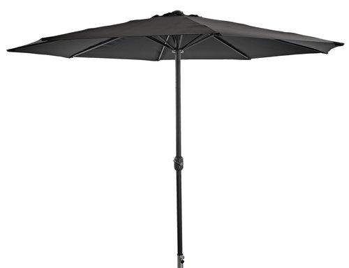 Marktparasol AGGER Ø300 zwart