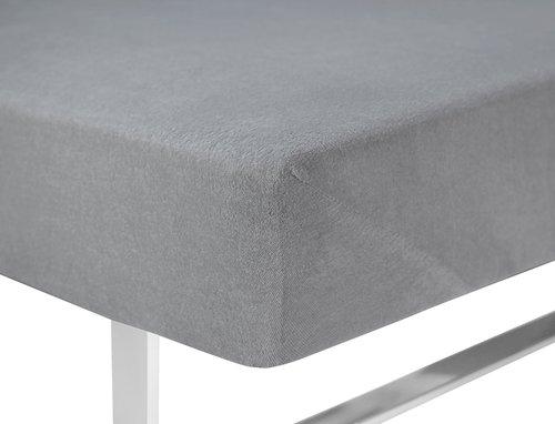 Hoeslaken badstof 180x200 grijs
