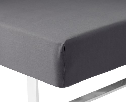 Sateen Fitted sheet SGL grey KRONBORG