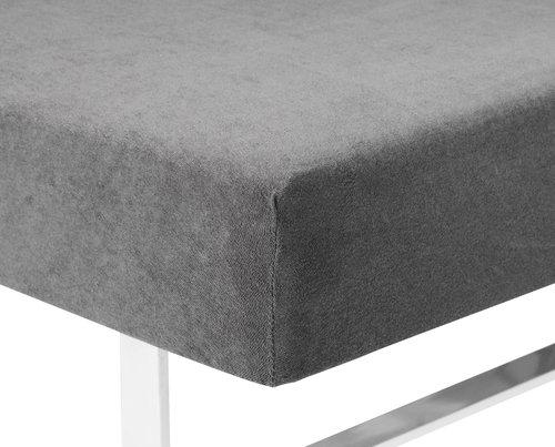 Frottélagen 140/150x200x40cm grå