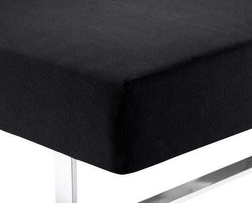 Jerseylaken 75x200/210x40 svart