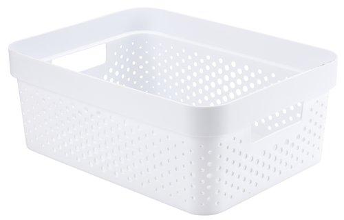Καλάθι INFINITY 11L πλαστικό λευκό