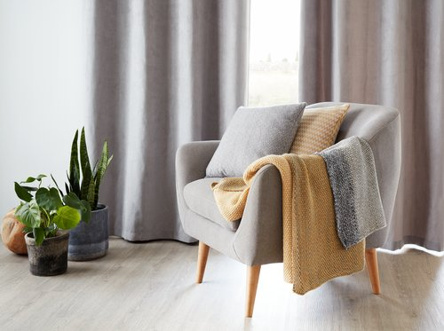 Curtain ANTEN 1x140x245 l. grey