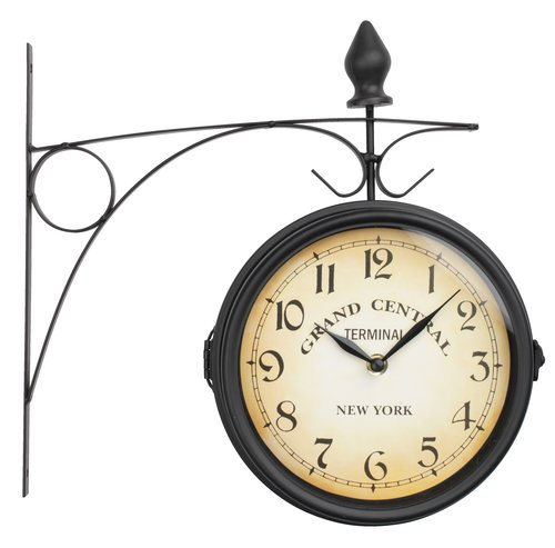 Reloj estación tren RUNAR Ø21cm negro