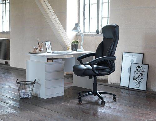 Skrivebord MESINGE 60x118 hvit