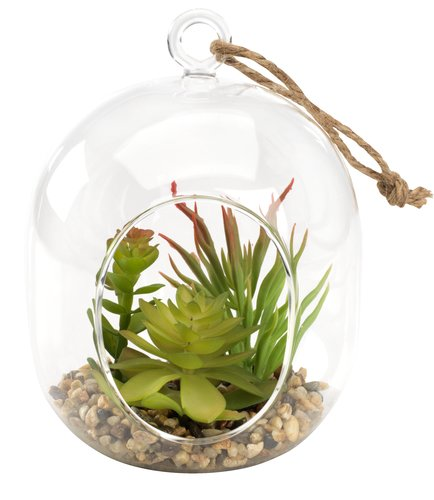 Artificial plant VIGO D11xH15cm glass