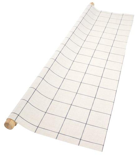 Vinyl tablecloth SALVIE 140 beige/blue