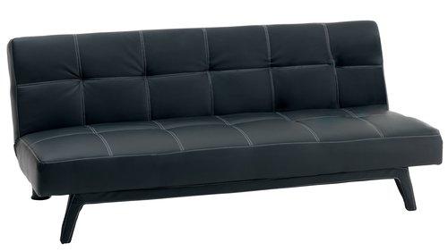 Диван-кровать HOLSTEBRO иск.кожа черный