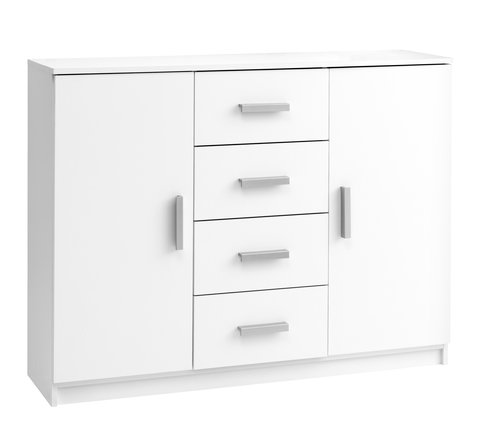 Sideboard KABDRUP 2 door 4 drw white