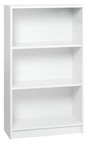 Bookcase HORSENS 3 shlv. wide white