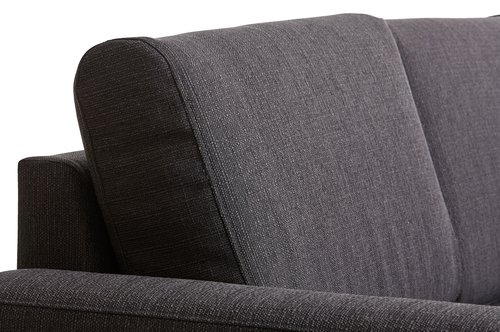 Sofa bed chaiselongue BEDSTED grey