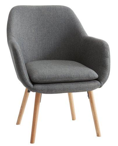 Кресло UDSBJERG сиво