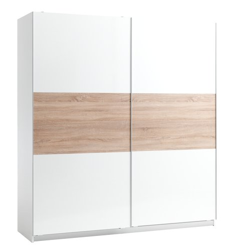 Wardrobe SATTRUP 201x219 highgloss/oak