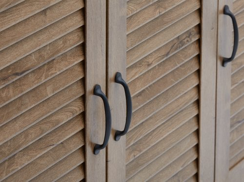 Tálaló MANDERUP 3 ajtó + 3 fiók tölgy