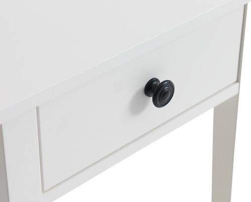 Bedside table NORDBY 1 drw white