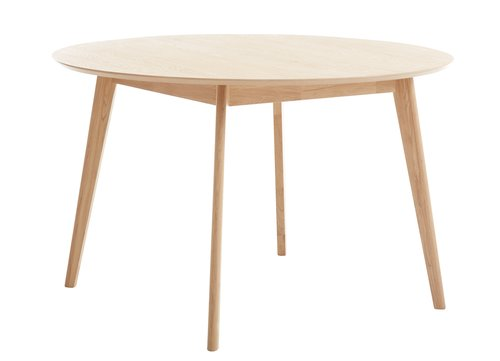 Dining table KALBY D120 light oak