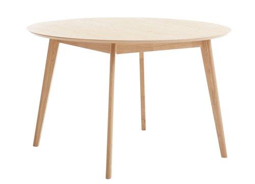 Jedálenský stôl KALBY Ø120 svetlý dub