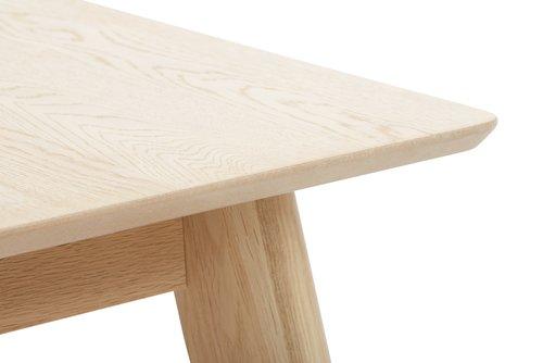 Spisebord KALBY 90x200/290 lys eg