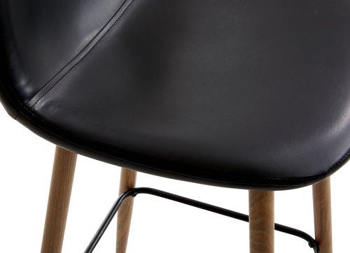 Barska stolica JONSTRUP crna/hrast