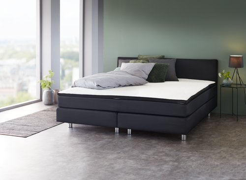 boxspring 140x200 plus c15 dreamzone jysk. Black Bedroom Furniture Sets. Home Design Ideas