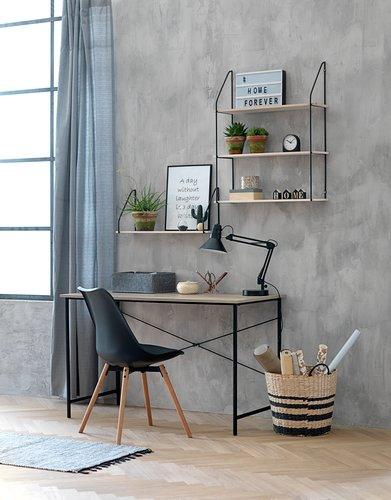 Krzesło KASTRUP czarny/dąb