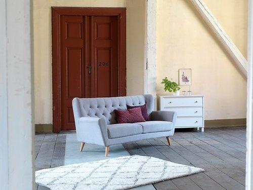 Sofa JUNGET 3-seter lys grå