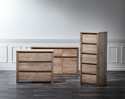 5 drw chest VEDDE oak