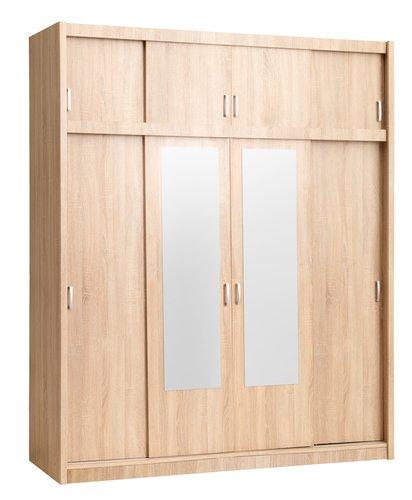 Wardrobe GENTOFTE 180x220 oak