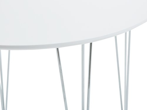 Dining table BANNERUP D90 white/chrome