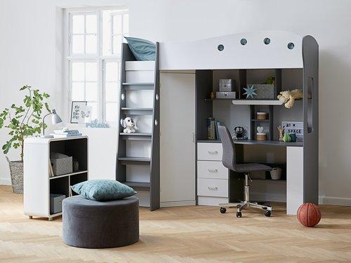 Bureaustoel ABILDHOLT grijs/chroom