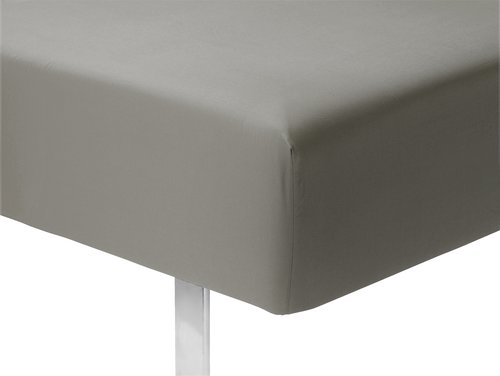 Чаршаф с ластик микроф. 90x200x25 см сив