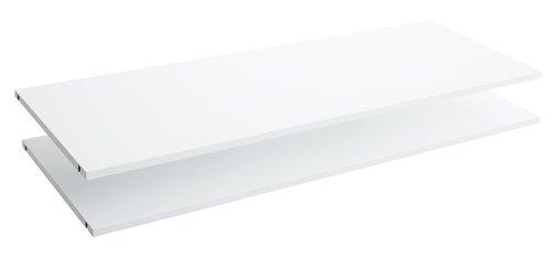 Polc TARP 123x46 2 db/cs fehér