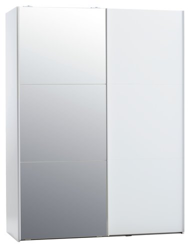 Skab TARP 151x201 m/spejl hvid