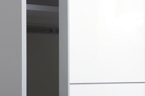 Skap ONSTED 151x201 m/speil hvit