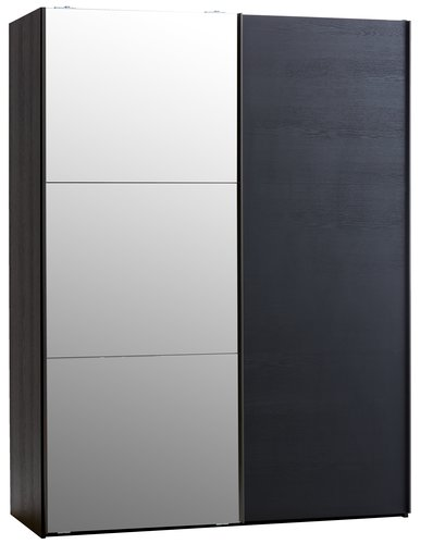 Wardrobe TARP 151x201 w/mirror black