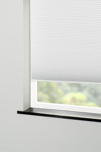 Plisségardin FUR 120x130 lysdemp hvit
